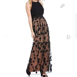 NWT Floral Embroidered Gown